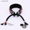 Bracelet Ethnique « Dakṣā » Esprit Bohème en Cuir végan-5.1