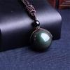 Collier-boule-obsidienne-arc-en-ciel-noir-rendu-chanceux-amour-pierre-naturelle-bouddhisme-pendentif-neclacets-pour