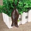Sortie-d-usine-tib-tain-ethnique-ancien-bijoux-chanceux-poisson-pendentif-en-bois-Vintage-collier-Long