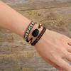 Bracelet-en-cuir-noir-avec-pierres-d-onyx-perles-fra-ches-tissage-d-claration-boh-me