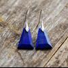 Boucles d'Oreilles Ethniques «Navaraṅgā» blue spirit en Lapis lazuli -2