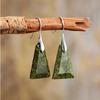 Boucles d'Oreilles Ethniques «Āraṇyaka»  en Jaspe rainforest-1
