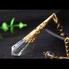 Pendule de soin énergétique «Wicca» en Quartz clair-12