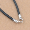 BALMORA-Real-925-en-argent-Sterling-noir-en-cuir-bricolage-cordon-colliers-pour-hommes-femmes-Couple