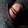 «Sḥabdā» Double Bracelet bohème en Grenat-2.1