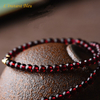 «Sḥabdā» Double Bracelet bohème en Grenat-4.1