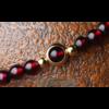 «Sḥabdā» Double Bracelet bohème en Grenat-8