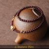 «Sḥabdā» Double Bracelet bohème en Grenat-9