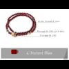 «Sḥabdā» Double Bracelet bohème en Grenat-10