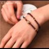 «Sḥabdā» Double Bracelet bohème en Grenat-11.1