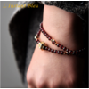 «Sḥabdā» Double Bracelet bohème en Grenat-13.1