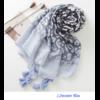 Echarpe imprimée Léopard Bleue en Coton «Dhāraṇā»-2