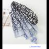 Echarpe imprimée Léopard Bleue en Coton «Dhāraṇā»-3
