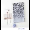 Echarpe imprimée Léopard Bleue en Coton «Dhāraṇā»-4