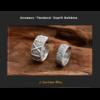 Anneaux Couple «Tandava» Esprit Bohème en Argent-6