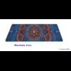 Tapis de Yoga «Bīja» 7 Chakra, Mandala et Nature-Mandala bleu 2