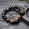 Bracelet Feng shui «PiYao» en Obsidienne dorée et Œil de Tigre