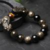 Bracelet Feng shui «PiYao» en Obsidienne dorée et Œil de Tigre-3