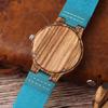 Montre Casual «Mátsya» en Bois – Bracelet cuir- Détails 2