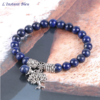 Bracelet Bohème «Akāra » Arbre de vie, en Lapis Lazuli-2