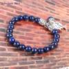 Bracelet Bohème «Akāra » Arbre de vie, en Lapis Lazuli-3