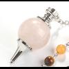 Pendule Séphoroton «7 Chakra» en Quartz rose-3