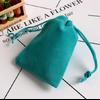 Pochette «Lalanā » en Velours - 8x10 cm ou 9x12 cm-turquoise