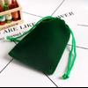Pochette «Lalanā » en Velours - 8x10 cm ou 9x12 cm-vert