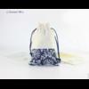 Pochette «Almora » 100% Coton - 10x11 cm imprimé Fleurs bleues