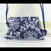 Pochette «Almora » 100% Coton - 10x11 cm imprimé Fleurs bleues-1