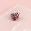 Nouvelle-925-Perles-En-Argent-Sterling-Charme-Ajour-Rose-et-Rouge-mail-clat-De-L-amour