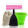 Coupe menstruelle Noire en Silicone de qualité médicale-1