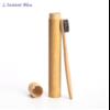 Brosse à dents de voyage + Boîte cylindre en Bambou naturel-6.1