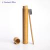 Brosse à dents de voyage + Boîte cylindre en Bambou naturel-7.1