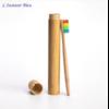 Brosse à dents de voyage + Boîte cylindre en Bambou naturel-10.1