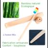 Brosse à dents de voyage + Boîte cylindre en Bambou naturel-11