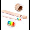 Brosse à dents de voyage + Boîte cylindre en Bambou naturel-13