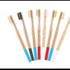 Brosse à dents «Anūpa» manche coloré, en Bambou naturel-7