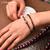 «Sḥabdā» Double Bracelet bohème en Grenat-1.1