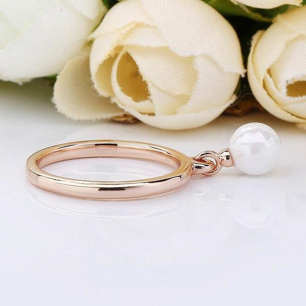 Authentique-925-Bague-En-Argent-Sterling-Rose-Contemporain-Perle-Anneaux-Pour-Les-Femmes-De-Noce-Cadeau