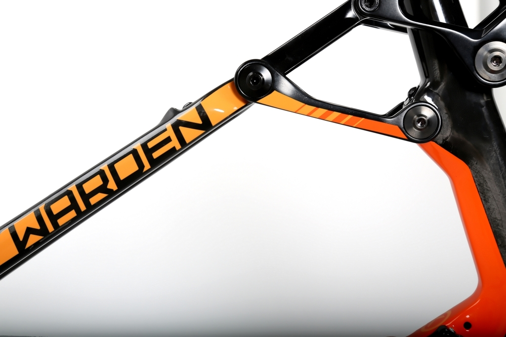 Warden Carbon Orange Orange Seat Stay Rocker Link