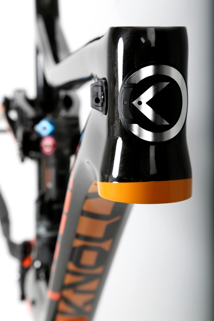 Warden Carbon Orange Orange Headtube Badge
