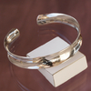 Bracelet rigide bangle Jackie en argent 925