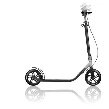 ONE-NL-230-ULTIMATE-gris métal-trottinette-grand-roue-pliable-pour-adulte-globber 1