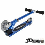 trottinette jdbug junior bleue pliage facile