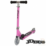 jdbug trottinette rose ms100 junior guidon réglable