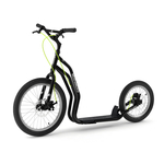 patinette new mezeq yedoo grande roues cross noire traction chien