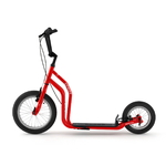 trottinette new city yedoo 16 pouces 12 pouces roue gonflable rouge