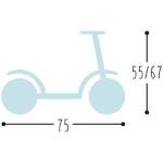 R1 puky trottinette  dimensions