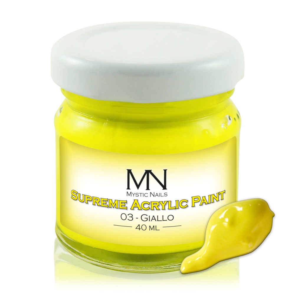 Supreme Acrylic Paint - no.03. Giallo - 40ml